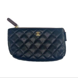 Chanel Small Black Clutch Made In Italy